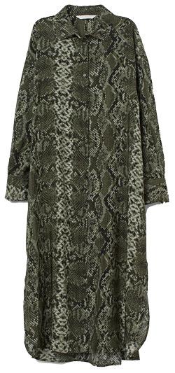 H&M snakeskin-patterned dress | 40plusstyle.com