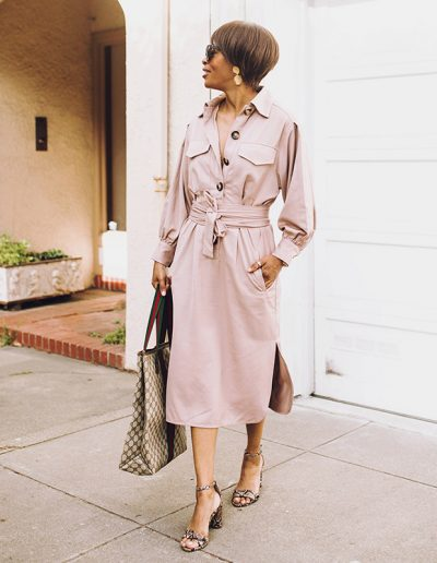 How to wear a shirtdress: 9 shirt dress outfit ideas for you | 40plusstyle.com