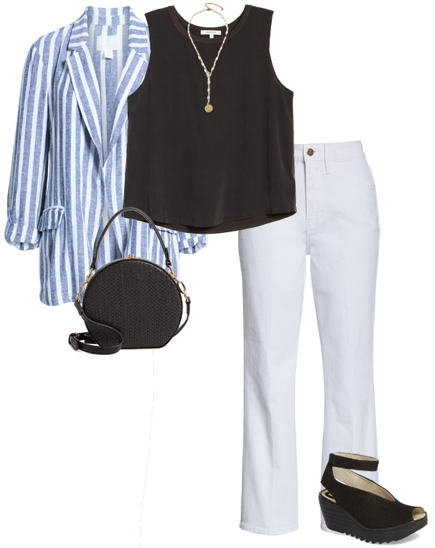 A warm weather outfit idea | 40plusstyle.com