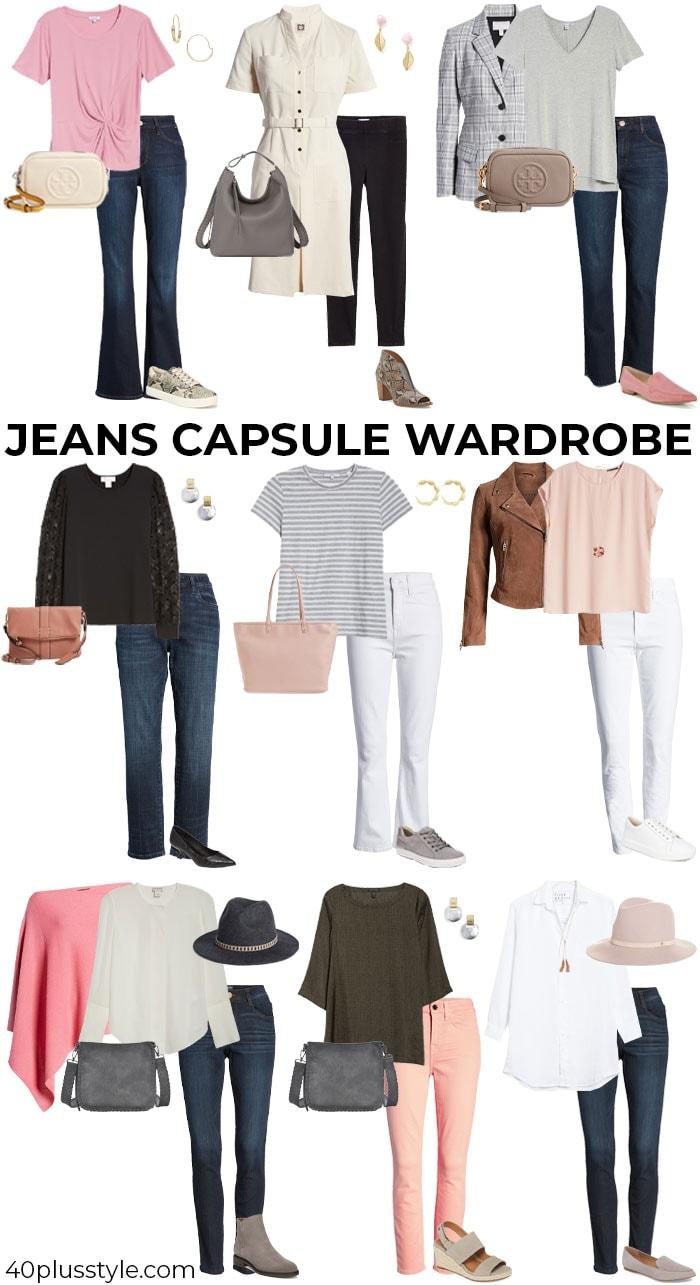 A jeans capsule wardrobe | 40plusstyle.com