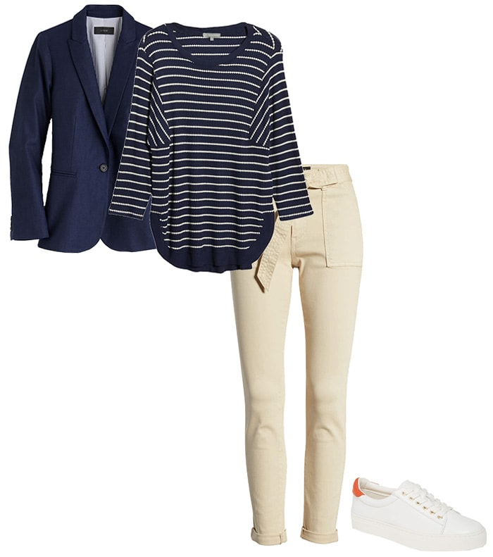 a class outfit featuring beige | 40plusstyle.com