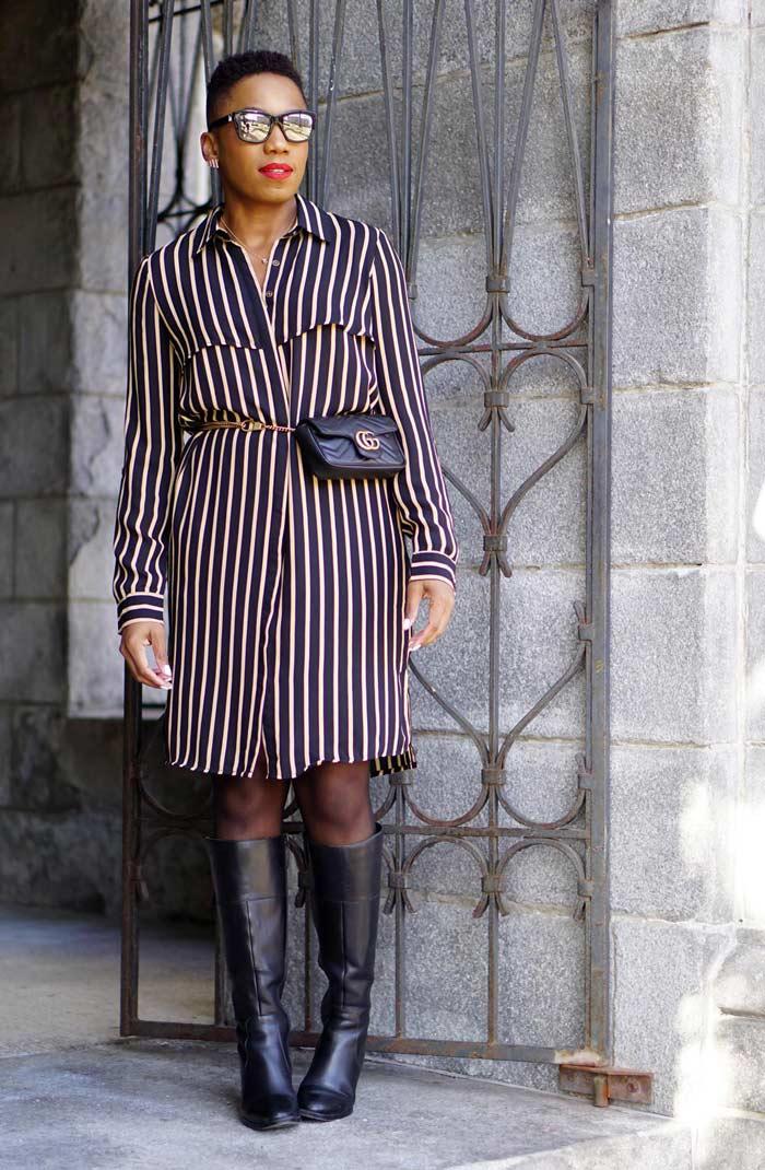 striped shirtdress | 40plusstyle.com
