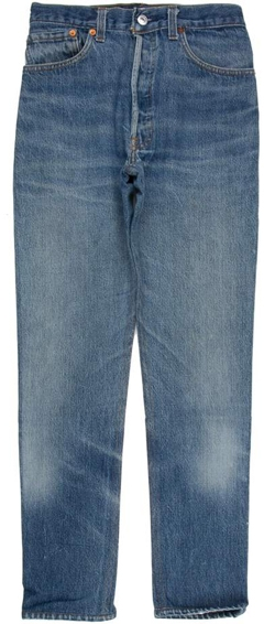 Re/Done x Levi's high rise jeans | 40plusstyle.com