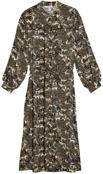Topshop paisley print shirtdress | 40plusstyle.com