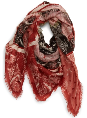 Treasure & Bond print wool scarf | 40plusstyle.com