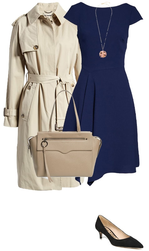 office looks - a dress and coat | 40plusstyle.com