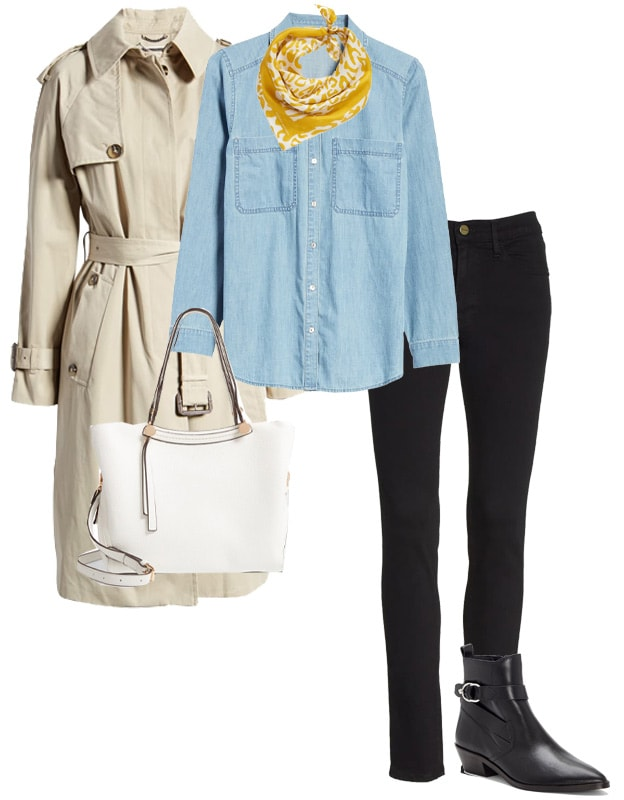 wearing denim and beige | 40plusstyle.com