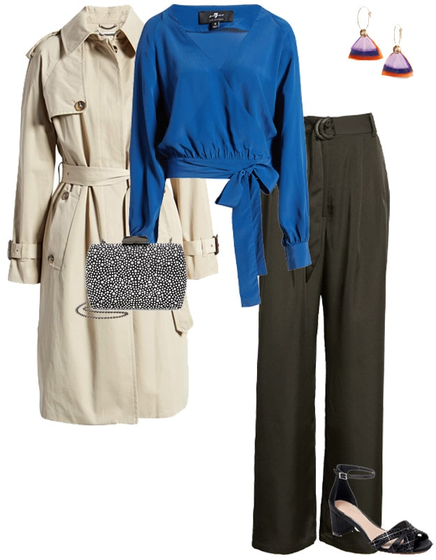 wide leg pants and a wrap skirt | 40plusstyle.com
