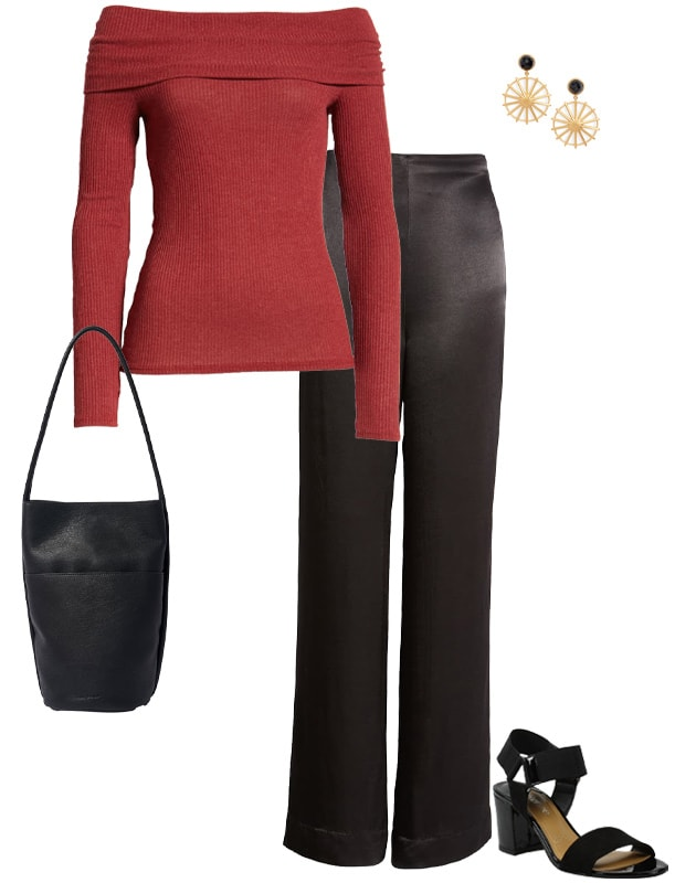 how to dress for valentines day - a bardot style top | 40plusstyle.com