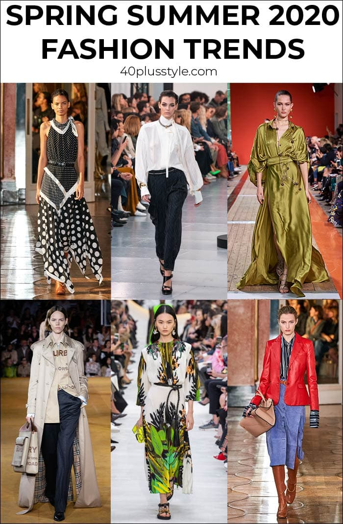 Fashion trends for Spring Summer 2020 | 40plusstyle.com