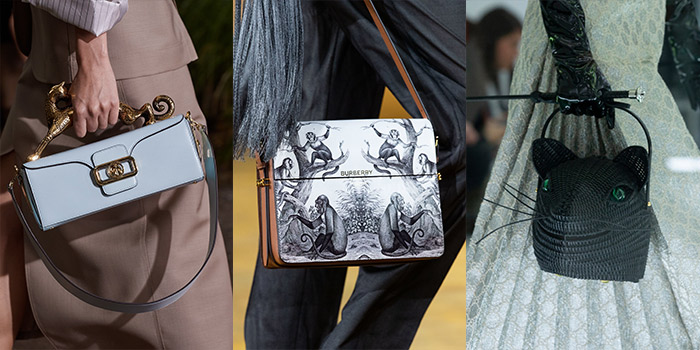 handbags featuring animal adornments | 40plusstyle.com