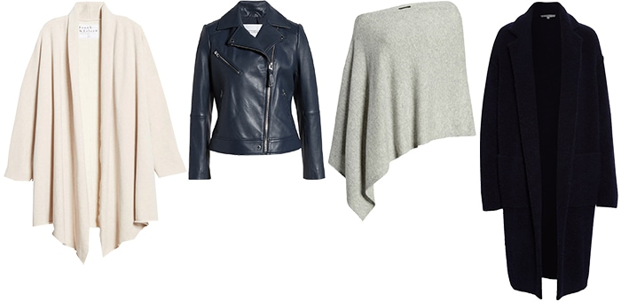 Outerwear for the apple shape body | 40plusstyle.com