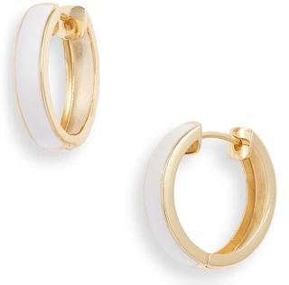Argento Vivo enamel plated hoop earrings   40plusstyle.com