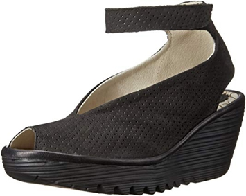 shoes with arch support - Fly London 'Yala' perforated leather sandal | 40plusstyle.com
