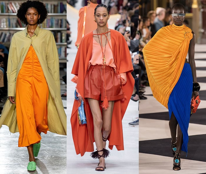 Orange outfits on the spring and summer 2020 catwalks | 40plusstyle.com