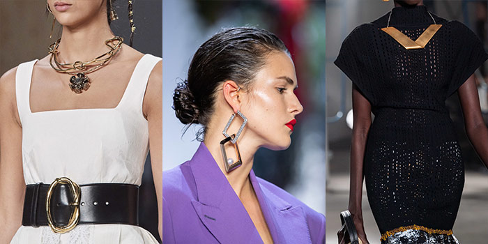 summer accessories - geometric jewelry | 40plusstyle.com