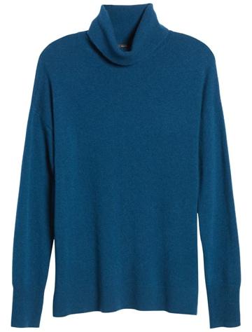 Halogen cashmere turtleneck sweater | 40plusstyle.com