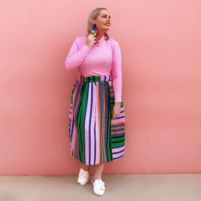 pink and green are the perfect combination to wear | 40plusstyle.com