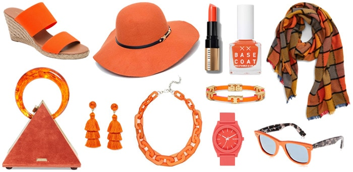 Stylish orange accesories | 40plusstyle.com