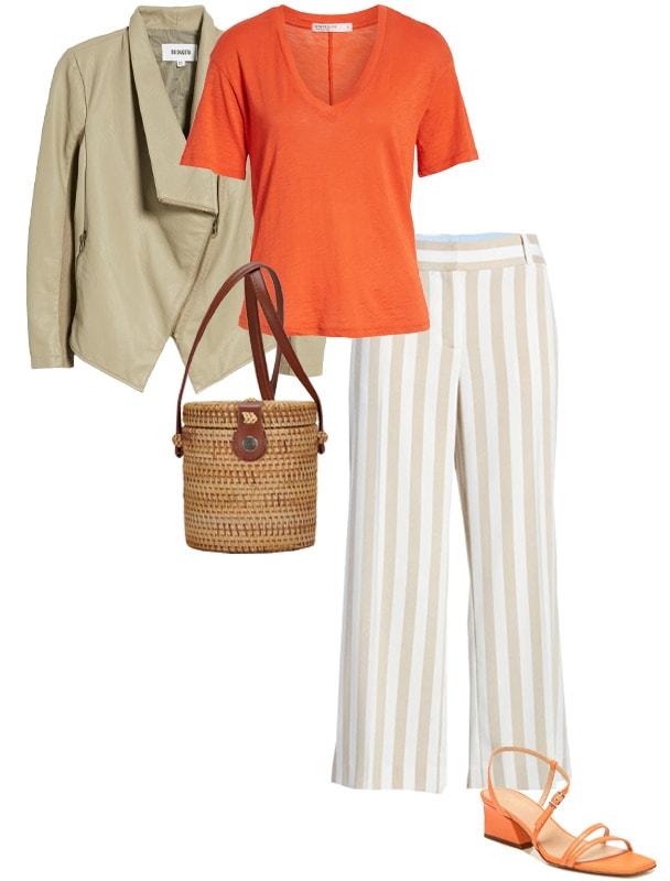 Pair orange with neutrals - beige | 40plusstyle.com