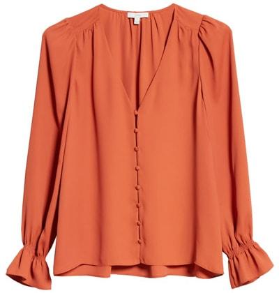 Joie silk blouse | 40plusstyle.com
