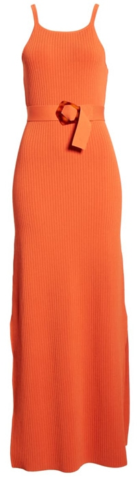 NICHOLAS ribbed belted maxi dress   40plusstyle.com