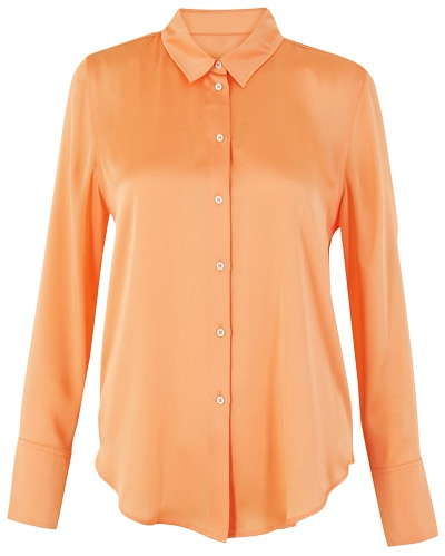 Marks & Spencer satin shirt | 40plusstyle.com