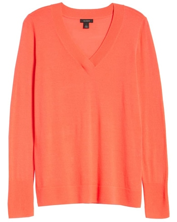 Halogen v-neck sweater | 40plusstyle.com