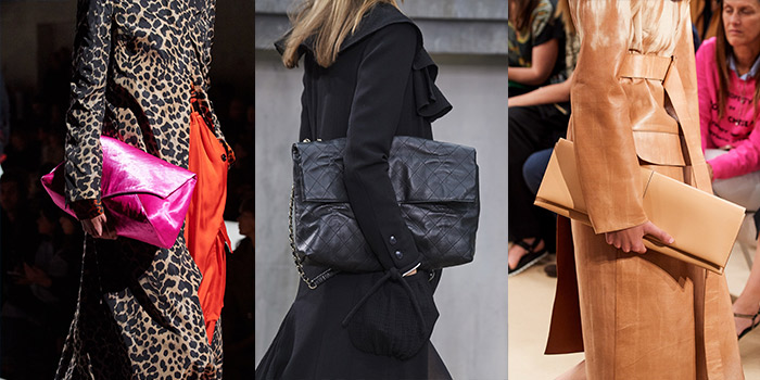 oversized clutch bags featured on the 2020 summer catwalks | 40plusstyle.com
