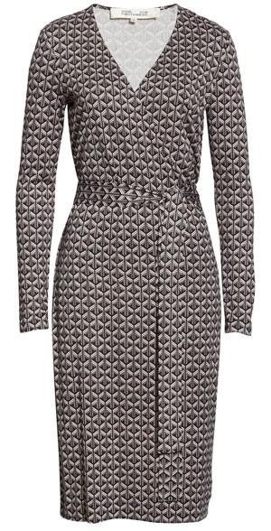 Classic clothes: DVF faux wrap silk dress   40plusstyle.com