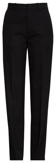 slim leg black pants | 40plusstyle.com