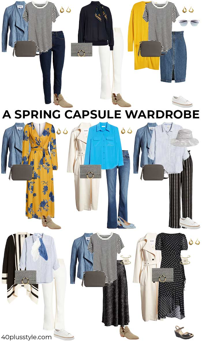 A spring capsule wardrobe | 40plusstyle.com