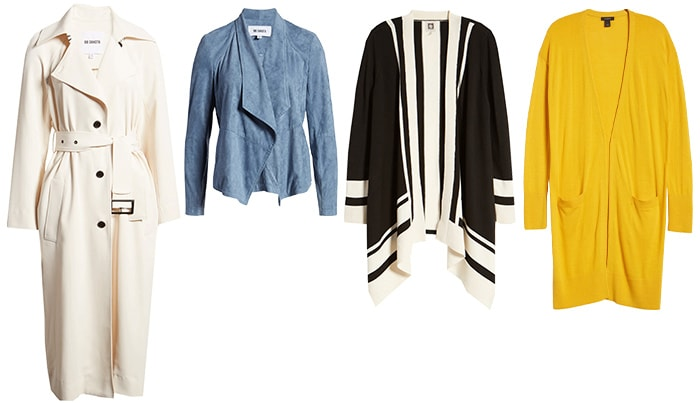 spring capsule wardrobe - Coats and cardigans | 40plusstyle.com