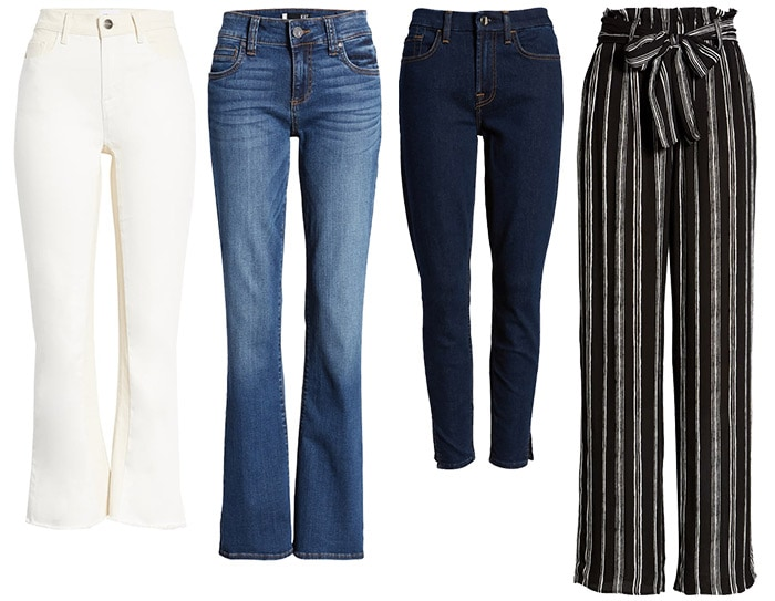 Spring capsule wardrobe - pants and jeans | 40plusstyle.com