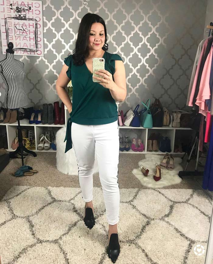how to wear green and white outfits | 40plusstyle.com
