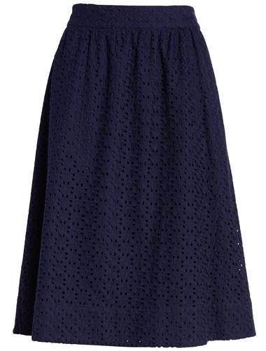 elastic waist navy skirt from 1901   40plusstyle.com