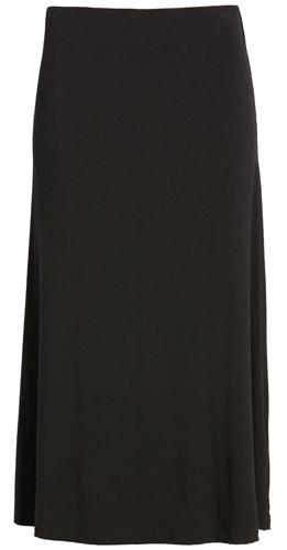 Black elastic waist skirt by AL MC   40plusstyle.com