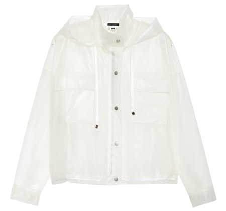 ATM Anthony Thomas Melillo transparent rubber rain jacket | 40plusstyle.com
