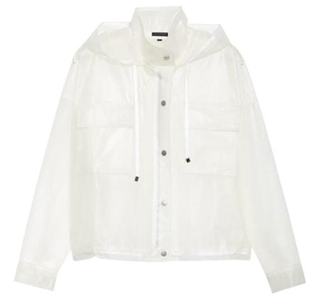 ATM Anthony Thomas Melillo transparent rubber rain jacket | 40plusstyle.com