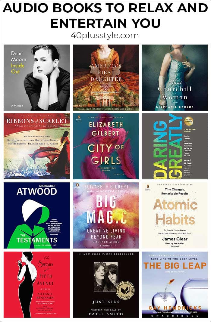 Favorite audios books to relax, learn and enjoy | 40plusstyle.com