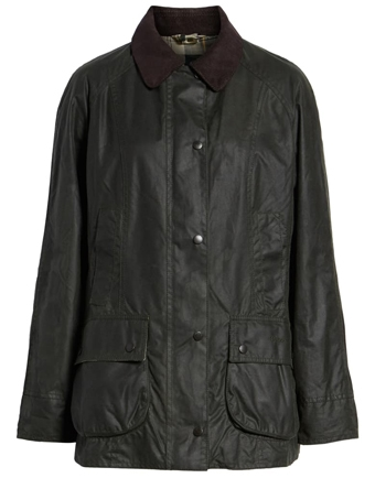 best raincoats for women - Barbour waxed jacket | 40plusstyle.com
