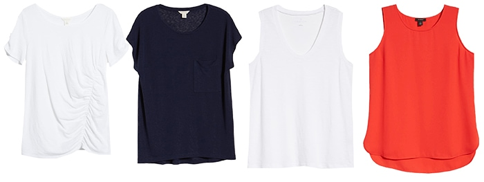 Basic clothing - tees and tanks | 40plusstyle.com