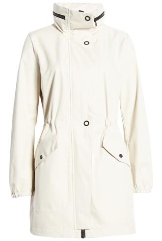 best raincoats for women - Bernardo back bow hooded waterproof & water resistant raincoat | 40plusstyle.com