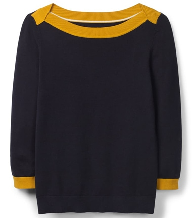 Boden sweater | 40 plusstyle.com