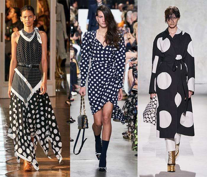 Runway looks - polka dot trend | 40plusstyle.com