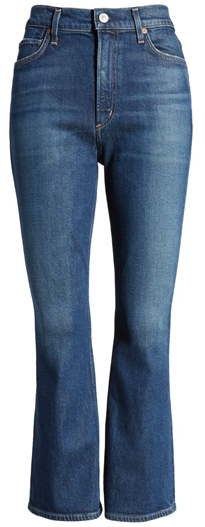 Citizens of Humanity high waist crop flare jeans | 40plusstyle.com