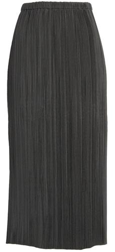 Club Monaco plissé midi skirt with an elastic waist   40plusstyle.com