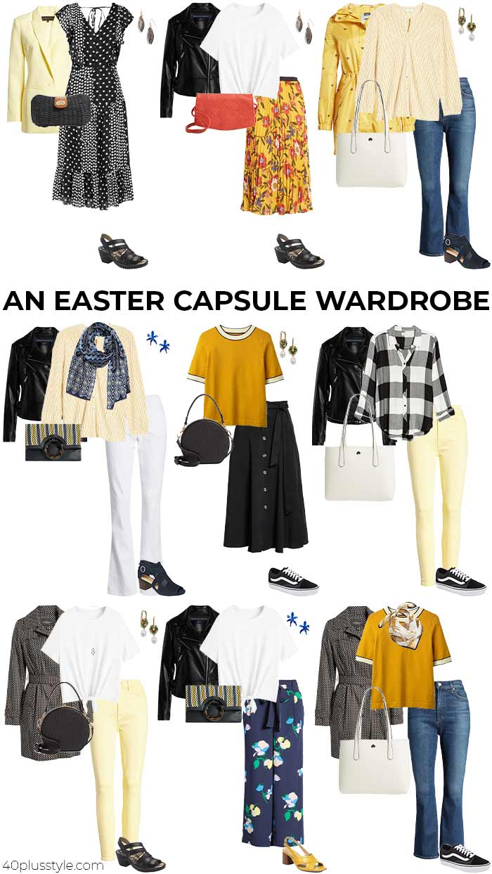 An Easter capsule wardrobe | 40plusstyle.com