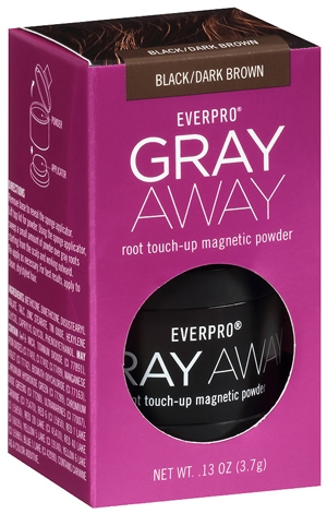 Dye hair roots - Everpro Gray Away Temporary Root Concealer Root Touch Up Magnetic Powder | 40plusstyle.com