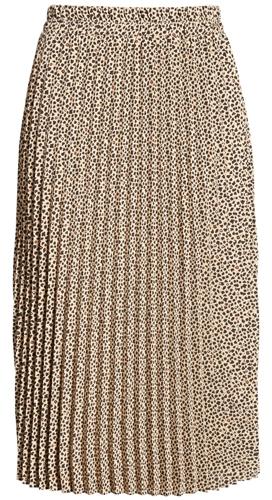 pleated elastic waist skirt from Gibson   40plusstyle.com